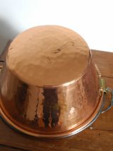 Petite marmite à anse en cuivre Villedieu années 50