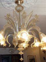Lustre cristal Murano 6 branches