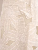 Robe droite neuve fleur beige chic preppy
