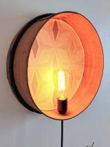 """Lampe murale, applique vintage - """"Tamis Losanges"""""""