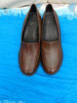 escarpins chaussure en cuir marron à talons T38
