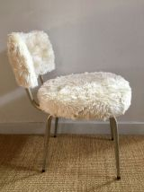 Chaise «moumoute» 60's vintage