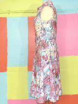robe patineuse motif fleur T38-40 vintage