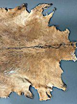 Tapis de peau de chèvre vintage
