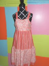 robe patineuse pinup fleur T38-40 tricofor vintage