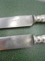 Anciens couteaux en argent