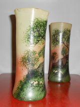 Paire de vase signé Leg