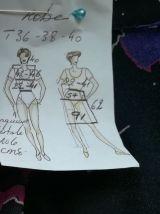 Robe vintage 70ies imprimé choc pour fille chic taille 36-38-40