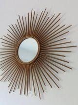 Grand miroir Chaty Vallauris signé des années 50 60