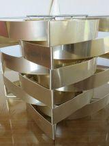 Supension Mars de Max SAUZE en aluminium doré années 70