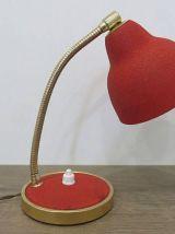 Petite lampe cocotte rouge années 50 60