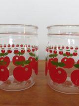 5 bocaux HENKEL pomme rouge années 70