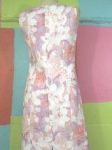 robe droite style année 60-70 T38-40 sym