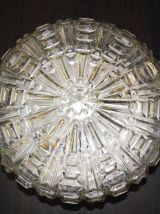 Plafonnier XL verre ciselé