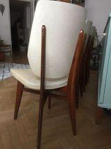 lot de 4 Chaises vintage scandinave blanches