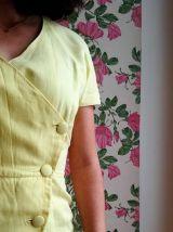 Agnès - Robe portefeuille vintage boutonnée et ceinturée