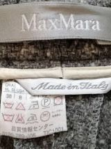 Angèle - Pantalon Max Mara vintage en laine gris chiné