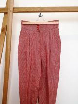 Babette - pantalon carot pant vintage pied de poule