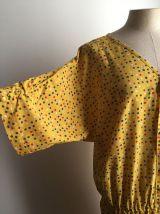 Lise - Robe en soie vintage à pois