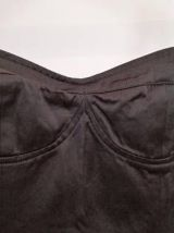 Claudine - Robe vintage noire en satin avec bustier
