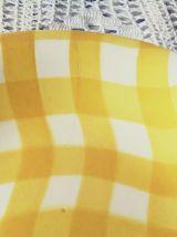 plat vintage SALINS carreaux jaune et blanc