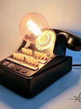 """Lampe industrielle, lampe vintage - """"Le téléphone de M Marti"""