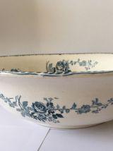 Broc et vasque céramique Terre de Fer Boulanger XIXè siècle