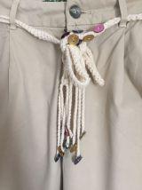 Pantalon chino beige marque Desigual Taille 26