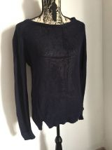 Pull bleu marine marque I Code by IKKS Taille S