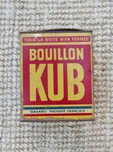 Moyenne boite métal bouillon Kub vintage