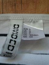 Débardeur long rayé blanc et noir H&M