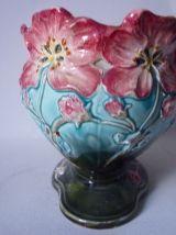 Jardinière ou cache pot en céramique barbotine