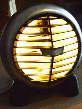 chauffage electrique détourner en lampe, luminaire