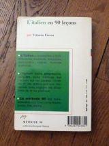 L'italien En 90 Lecons Et En 90 Jours - Vittorio Fiocca