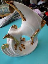 grand poisson porcelaine art deco