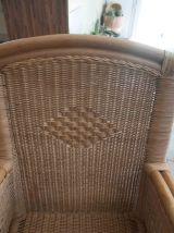 Rocking chair en rotin