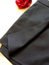 Short court neuf taille haute noir pan tendance