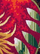 Tapisserie Canevas motifs chevaux stylisés année 1970