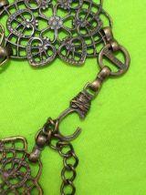 ceinture effet cuivre motif fleur vintage/retro TU