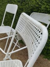 4 chaises metal