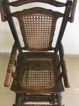 chaise haute enfant ancienne cannée transformable