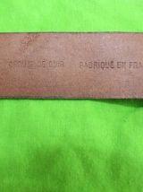 ceinture taille cuir effet argente vintage