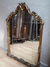 grand miroir doré style baroque espagnole