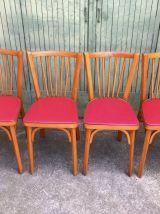 4 chaises bistrot Baumann vintage