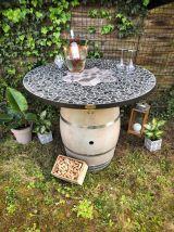 Table / mange debout tonneau vin