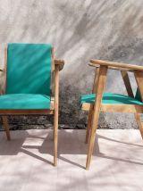 Paire de fauteuils scandinaves verts