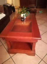 Table basse merisier