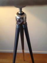 lampadaire créé s/ancien trépied photo métal(5)