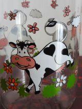 Bouteille 1 litre Le Parfait modèle vache