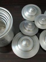 Ensemble de 6 pots à épices en alu